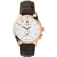 links of london regent chocolate leather strap watch, n/a