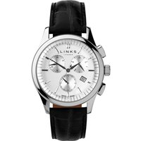 links of london regent black strap chronograph watch, n/a
