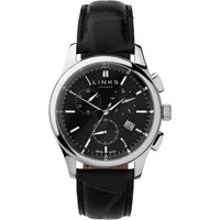links of london regent black dial chronograph watch, n/a