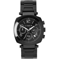 links of london brompton black dial chronograph watch, n/a