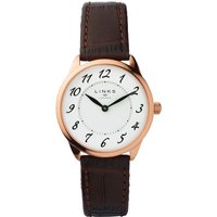 links of london narrative womens brown leather watch, brown