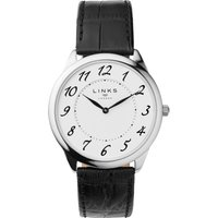 links of london narrative mens black leather watch, black