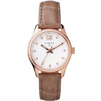 links of london greenwich noon nude leather watch, nude