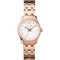 links of london greenwich rose gold tone and crystal watch, rose gold