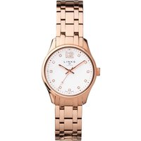 links of london greenwich noon rose gold bracelet watch, rose gold
