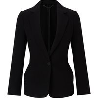 Jigsaw Double Knit Raw Edge Jacket, Black - Jigsaw Gifts