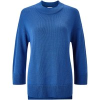 Jigsaw Rib Back Jumper, Blue