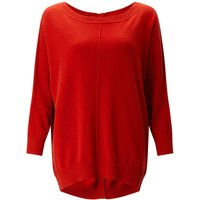 Jigsaw Button Back Drop Hem Sweater, Orange - Jigsaw Gifts