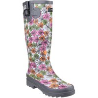 Cotswold Flower power wellington boots, Grey - Walking Gifts