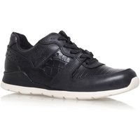 UGG Deaven croco flat lace up sneakers, Black - Ugg Gifts