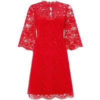 Monsoon Lana Lace Dress, Red