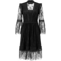 Monsoon Victoria Lace Dress, Black