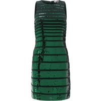 Monsoon Ines Sequin Stripe Dress, Green