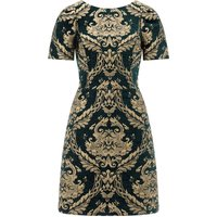 Monsoon Roberta Jacquard Dress, Green