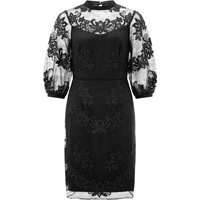 Monsoon Lenora Lace Dress, Black