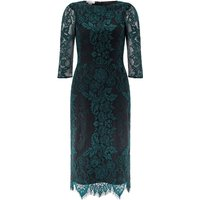 Monsoon Courtney Lace Dress, Green