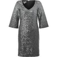 Monsoon Obelia Ombre Sequin Dress, Silver Silverlic