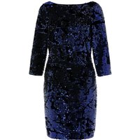 Monsoon Samantha Sequin Dress, Blue