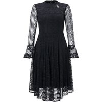 Monsoon Lize Lace Dress, Black