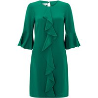 Monsoon Rocco Ruffle Tunic Dress, Green