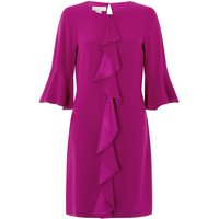 Monsoon Rocco Ruffle Tunic Dress, Purple
