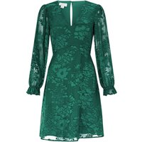 Monsoon Odette Devore Dress, Green