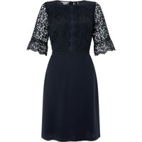 Monsoon Rebecca Lace Dress, Blue