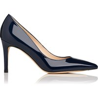 L.K.Bennett Floret patent leather court shoes, Blue