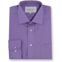 Men's Double TWO Paradigm Single Cuff 100 Cotton Non-Iron Shirt, Purple
