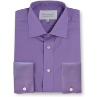 Men's Double TWO Paradigm Double Cuff 100 Cotton Non-Iron Shirt, Purple