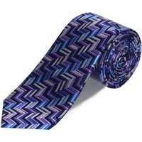 Double TWO Double Two Patterned Tie, Purple