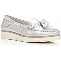 Moda in Pelle Aledos loafers, Silver