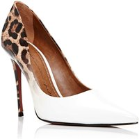 Moda in Pelle Cristina heel court shoes, White