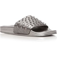 Moda in Pelle Orlan Flat Casual Sandals, Pewter