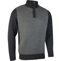 Men's Glenmuir Adonis Half Zip Jumper, Charcoal