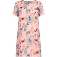 YumiYumi Pink Short Sleeve Dress With Floral Print, Pink