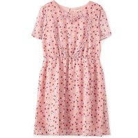 Yumi Girls Frilled Heart Dress, Pink - Seek Gifts
