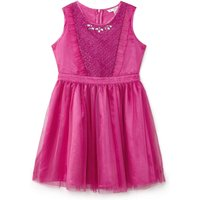 Yumi Girls Embellished Lace Tulle Dress, Pink - Seek Gifts