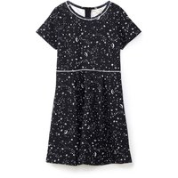Yumi Girls Galaxy Print Skater Dress, Black