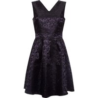 Yumi Floral Weave And Butterfly Fit And Flare Dress, Black