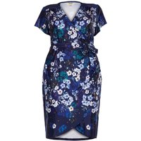 Yumi Curves Botanical Stardust Cross-Over Dress, Blue