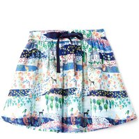 Yumi Girls Garden Print Skirt, Multi-Coloured - Garden Gifts
