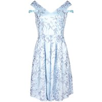 Mela London Jacquard Bardot Prom Dress, Blue