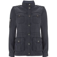 Mint Velvet Washed Indigo 4 Pocket Jacket, Blue