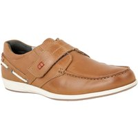 Lotus Since 1759 Baldwin Rip Tape Loafers, Chestnut