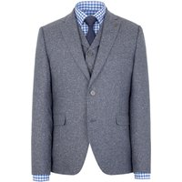 Mens Gibson Blue donegal jacket, Blue