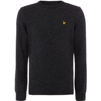 Men's Lyle and Scott Lambswool Crew Neck Jumper, Charcoal Marl