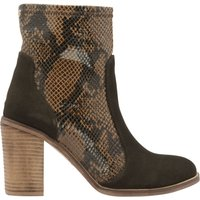 Ravel Northport Block Heeled Ankle Boots, Brown