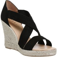 Office Holiday cross front espadrille wedges, Black