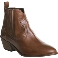 Office America Covered Gusset Chelsea Boots, Tan - Chelsea Gifts